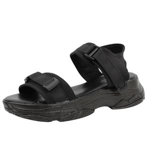 Shoes - Black Velcro Straps flatform Wedge Sandal